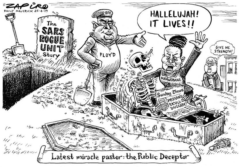 Busisiwe Mkhwebane, SARS, Gordhan, Zapiro