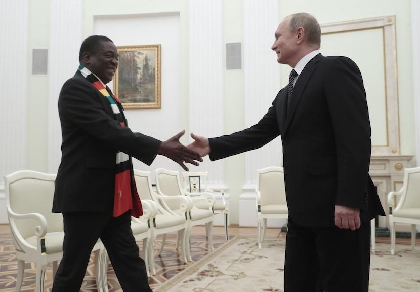 Vladimir Putin, Emmerson Mnangagwa