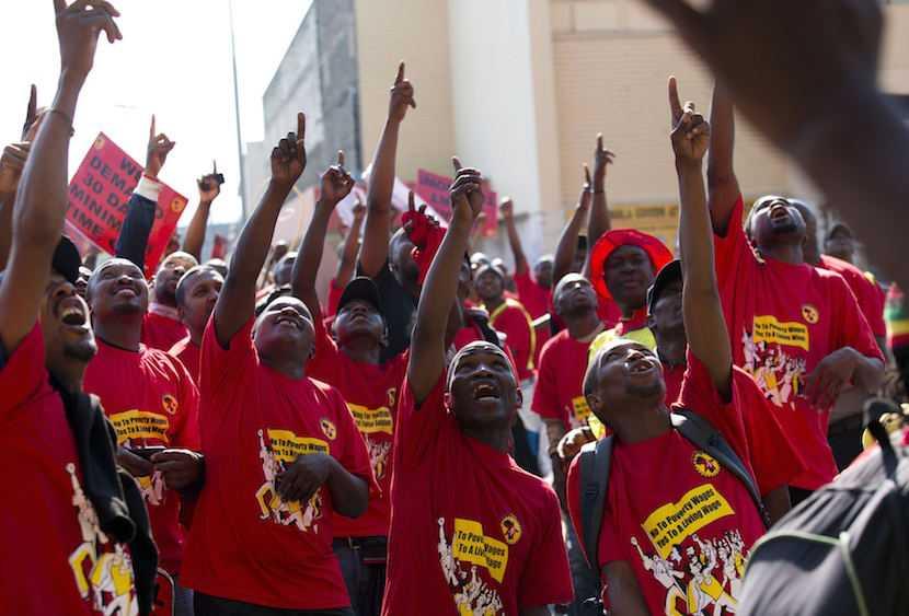 File Photo: NUMSA members striking