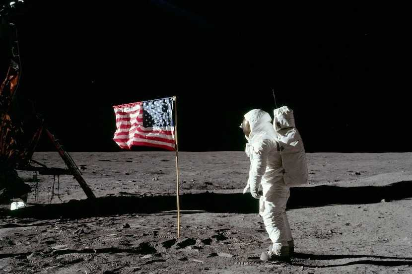 Image from the 1969 moon landing.