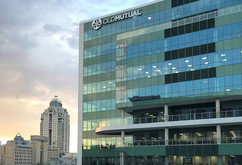 Photograph of the Old Mutual Headquarters, 1 Mutual Place, in Johannesburg, South Africa.