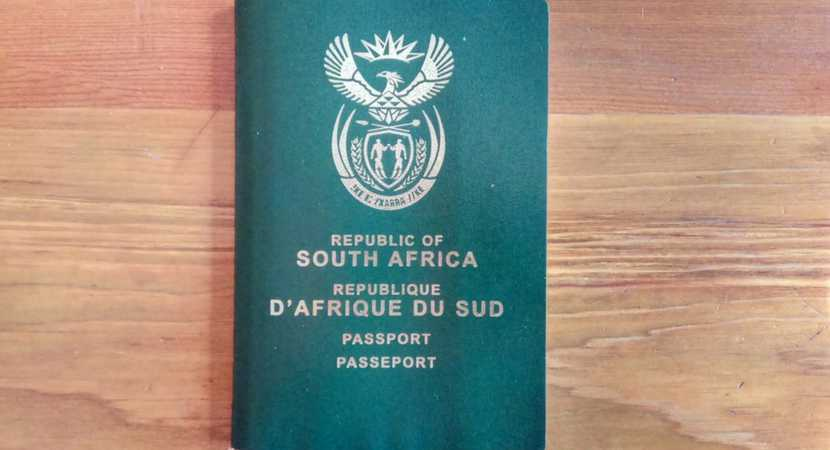 The 'Green Mamba' - aka, the South African passport.
