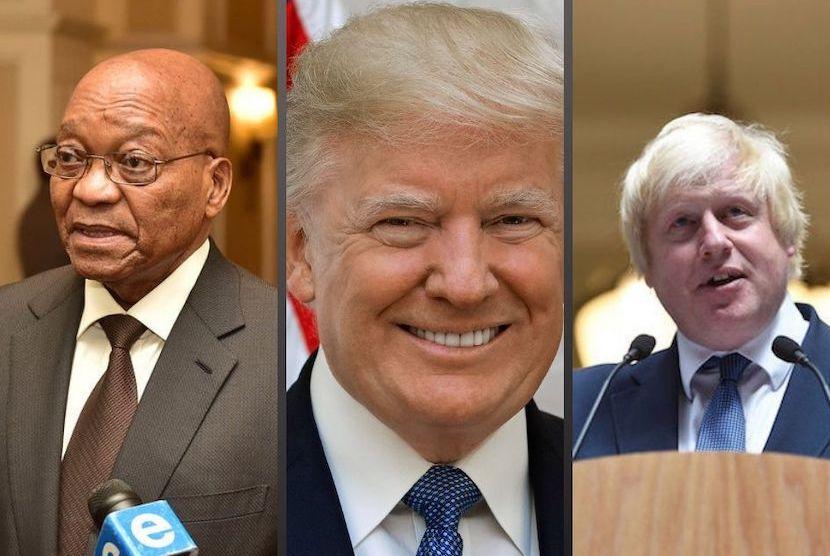 Trump, Zuma and Boris Johnson
