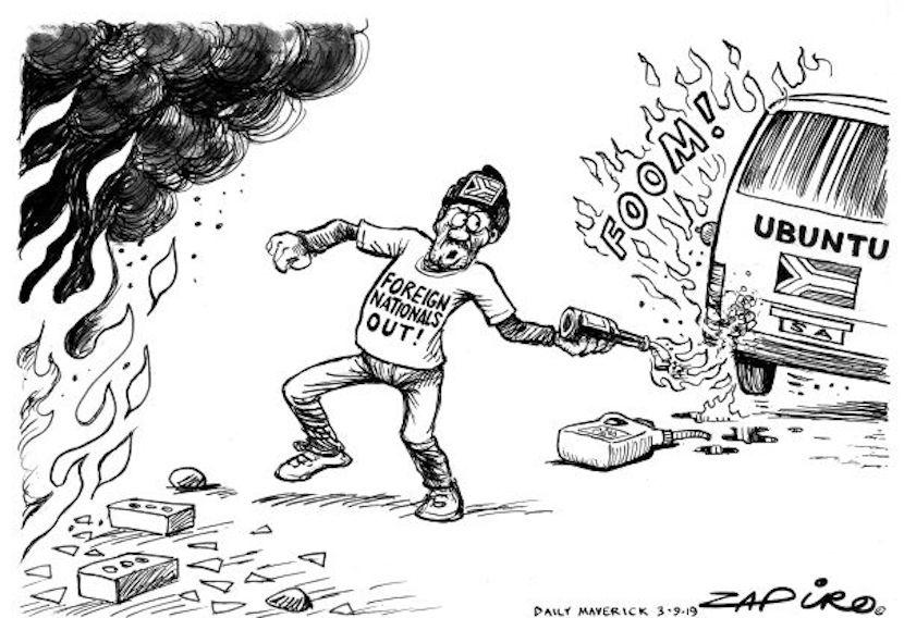 Zapiro, Ubuntu, xenophobia