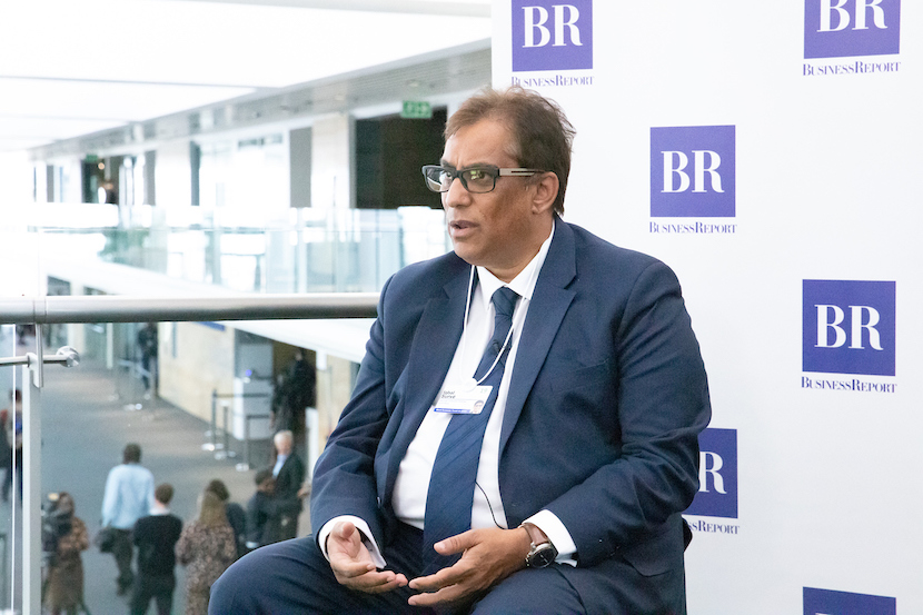 Iqbal Surve interviewed at the World Forum World Economic Forum on Africa 2019. Copyright by World Economic Forum / Greg Beadle