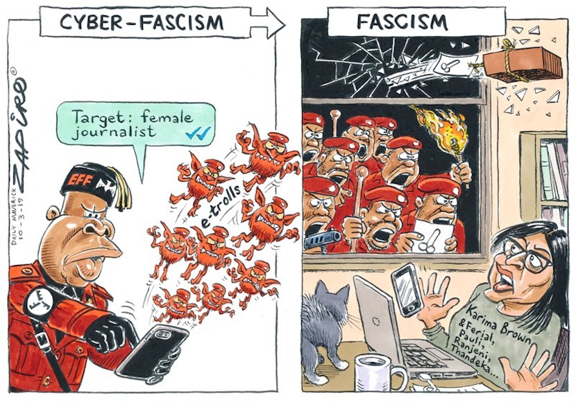 Zapiro, fascism, EFF, Journalists