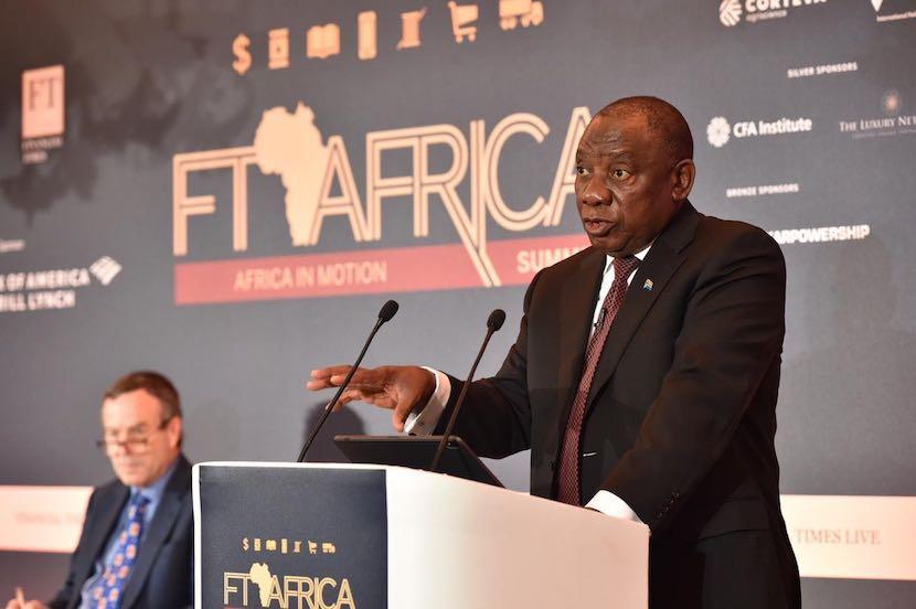 Cyril Ramaphosa, FT Africa Summit