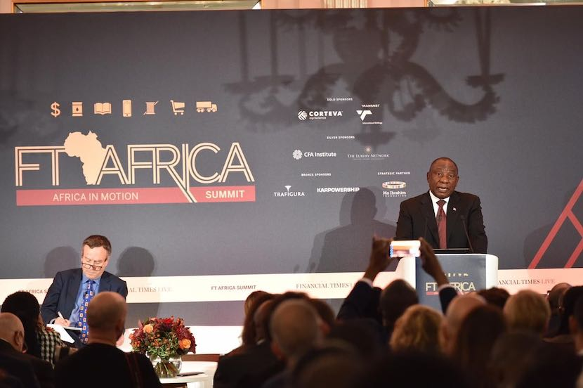 Cyril Ramaphosa, FT Africa Summit