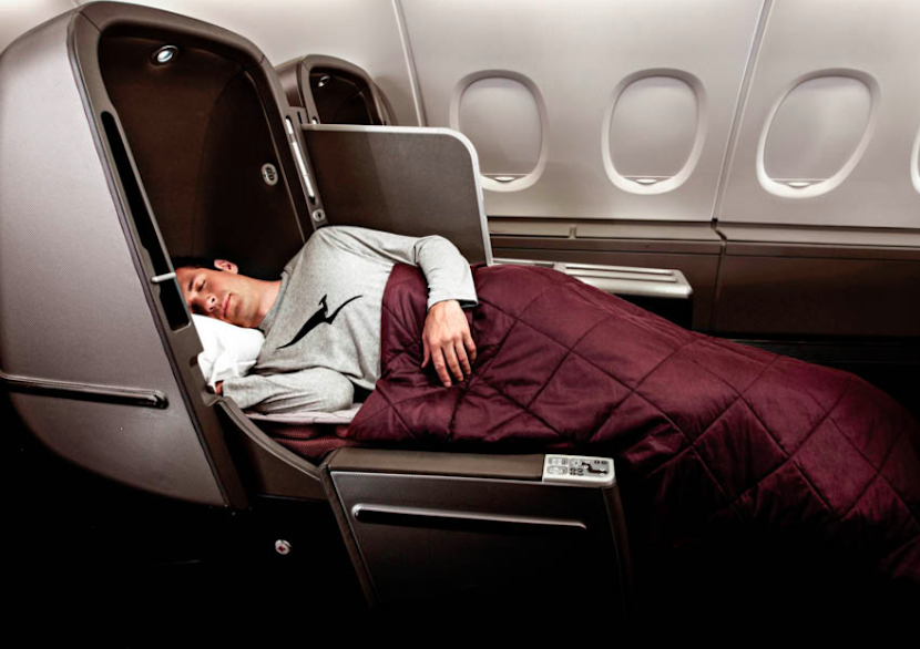 Qantas business class seating,
