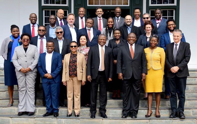 Ramaphosa, economic advisors
