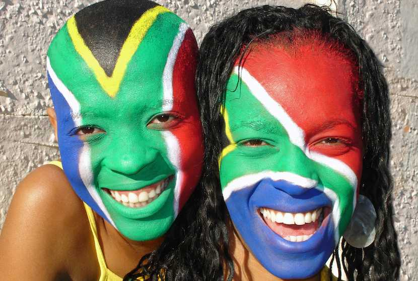 SA Youth Flags on faces