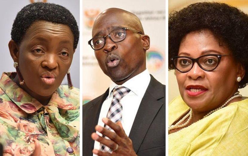 Bathabile Dlamini, Malusi Gigaba and Nomvulo Mokonyane