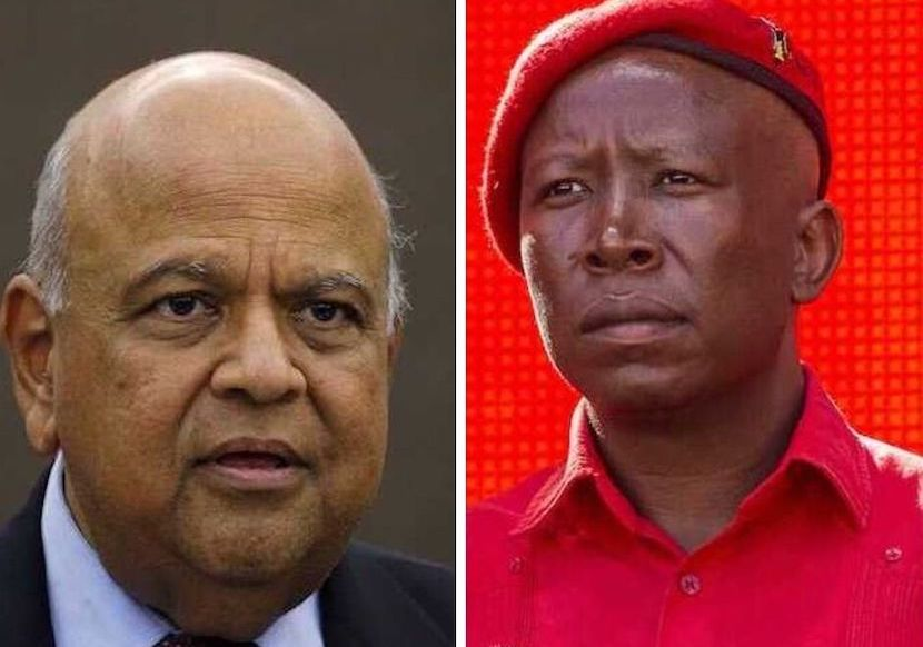 Pravin Gordhan, Julius Malema, SARS rogue unit