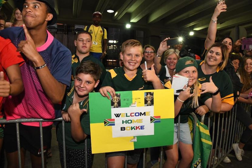 Springbok fans, OR Tambo International Airport, RWC