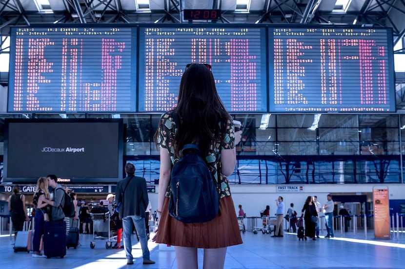 airport, departure, travel
