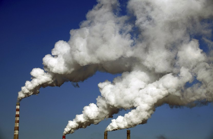 Air pollution, gas emissions, China