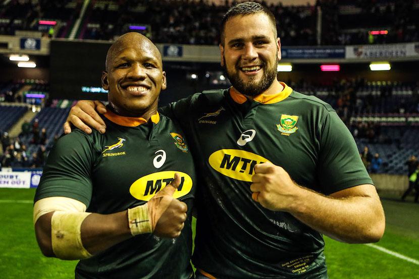 SA Rugby Bongi Mbonambi Thomas du Toit