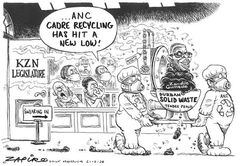 Zandile Gumede cartoon by Zapiro