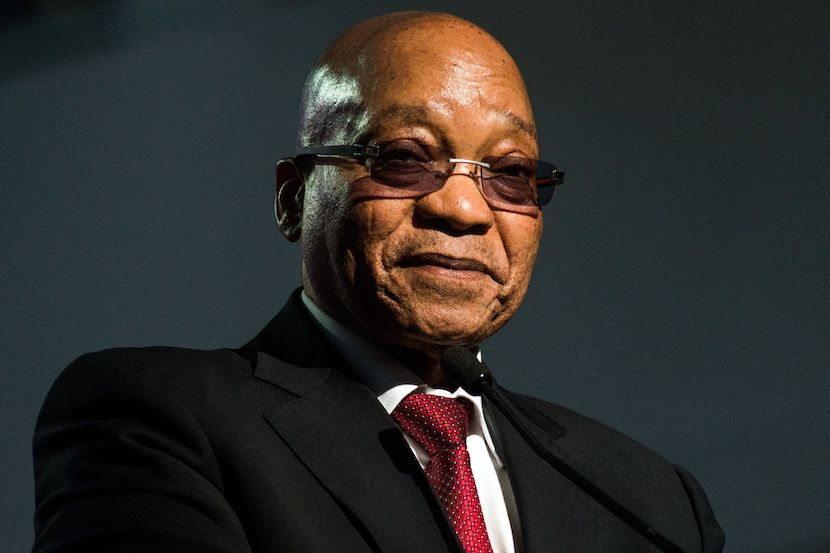 Jacob Zuma is appearing at the Zondo commission.