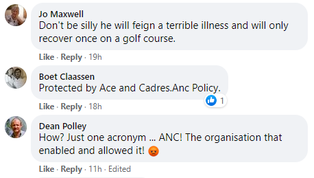O'Sullivan Facebook comment