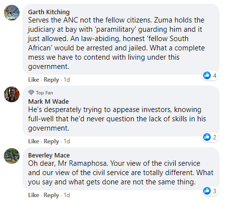 public sector facebook comment