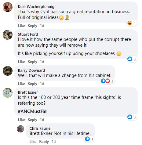 public service Facebook comment