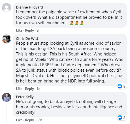 Cyril Facebook comment
